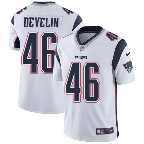 Nike Patriots #46 James Develin White Men's Stitched NFL Vapor Untouchable Limited Jersey