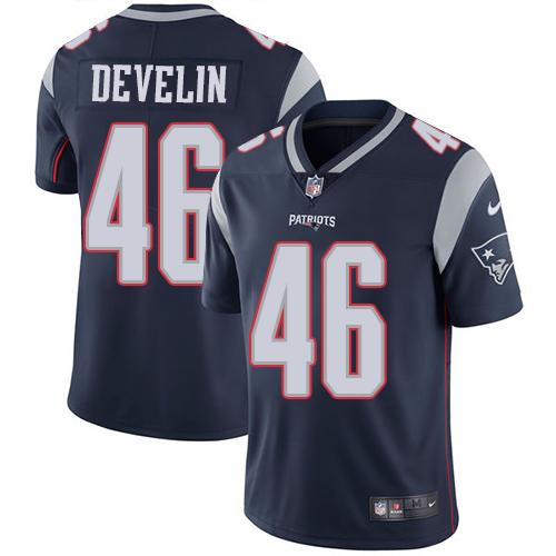 Nike Patriots #46 James Develin Navy Blue Team Color Men's Stitched NFL Vapor Untouchable Limited Jersey