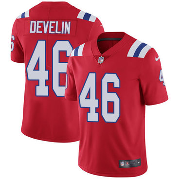 Nike Patriots #46 James Develin Red Alternate Men's Stitched NFL Vapor Untouchable Limited Jersey