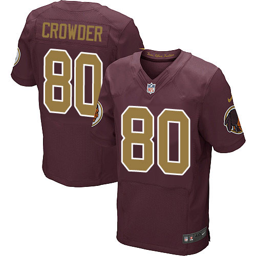 Nike Redskins #80 Jamison Crowder Burgundy Red Alternate Men's Stitched NFL 80TH Throwback Elite Jersey