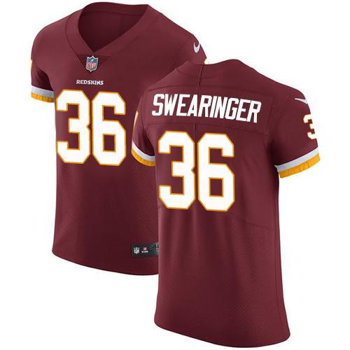 Nike Redskins #36 D.J. Swearinger Burgundy Red Team Color Men's Stitched NFL Vapor Untouchable Elite Jersey