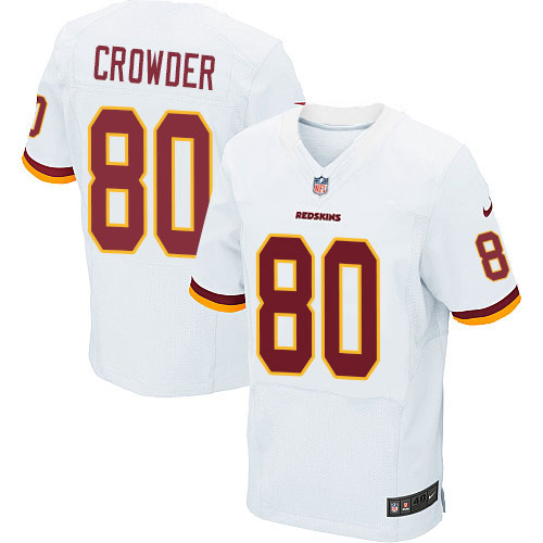 Nike Redskins #80 Jamison Crowder White Men's Stitched NFL Elite Jersey