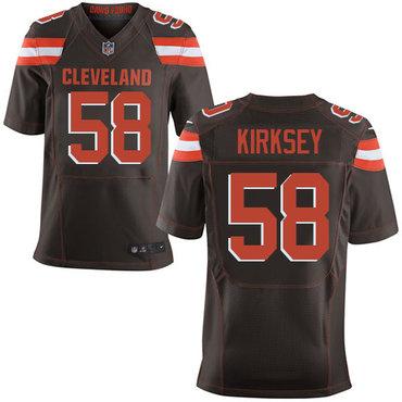 Nike Browns #58 Christian Kirksey Brown Team Color Men's Stitched NFL New Elite Jersey