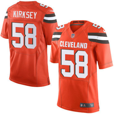 Nike Browns #58 Christian Kirksey Orange Alternate Men's Stitched NFL New Elite Jersey