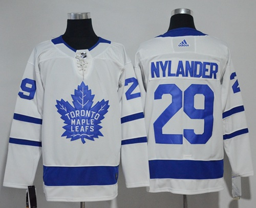 Adidas Maple Leafs #29 William Nylander White Road Authentic Stitched NHL Jersey