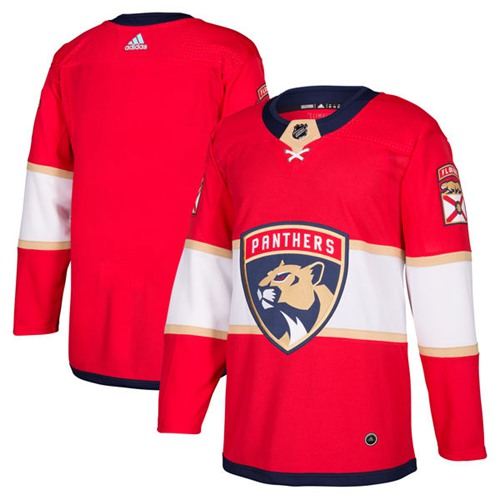 Adidas Panthers Blank Red Home Authentic Stitched NHL Jersey