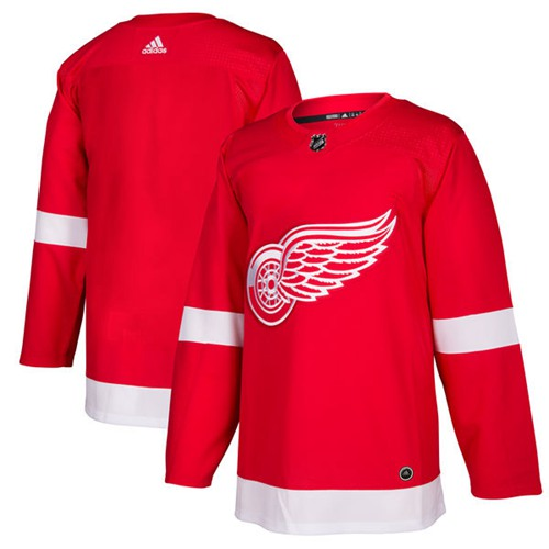 Adidas Red Wings Blank Red Home Authentic Stitched NHL Jersey