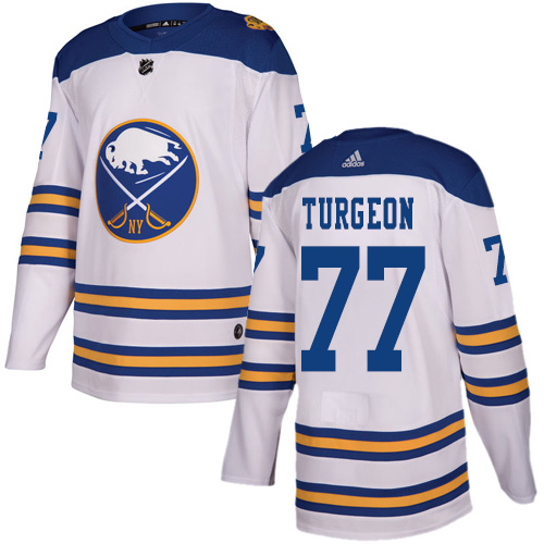 Adidas Sabres #77 Pierre Turgeon White Authentic 2018 Winter Classic Stitched NHL Jersey