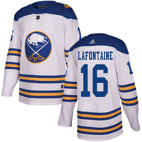 Adidas Sabres #16 Pat Lafontaine White Authentic 2018 Winter Classic Stitched NHL Jersey