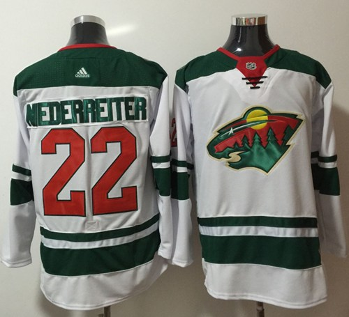 Adidas Wild #22 Nino Niederreiter White Road Authentic Stitched NHL Jersey