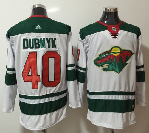 Adidas Wild #40 Devan Dubnyk White Road Authentic Stitched NHL Jersey