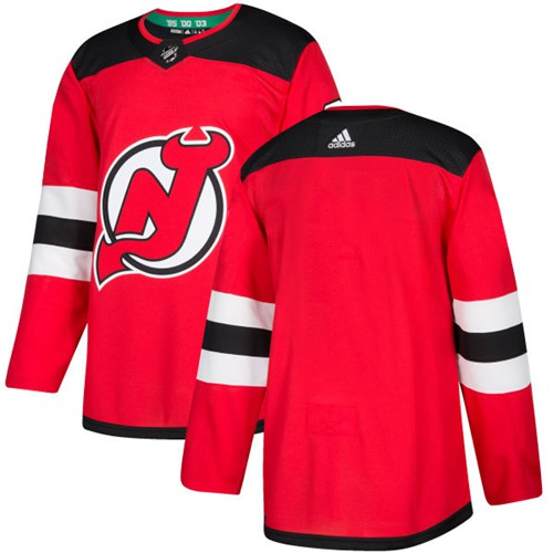 Adidas Devils Blank Red Authentic Stitched NHL Jersey