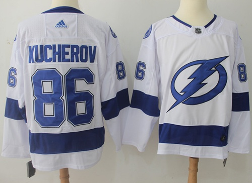 Adidas Lightning #86 Nikita Kucherov White Road Authentic Stitched NHL Jersey
