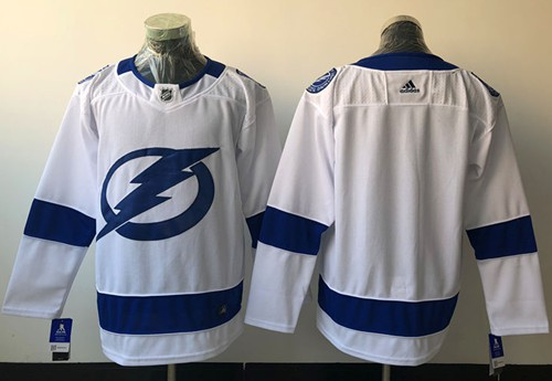 Adidas Lightning Blank White Road Authentic Stitched NHL Jersey