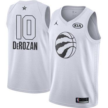 Nike Raptors #10 DeMar DeRozan White NBA Jordan Swingman 2018 All-Star Game Jersey