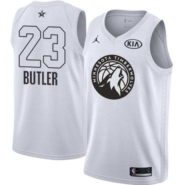 Nike Timberwolves #23 Jimmy Butler White NBA Jordan Swingman 2018 All-Star Game Jersey