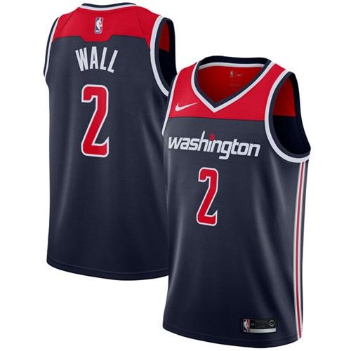 Nike Washington Wizards #2 John Wall Navy Blue NBA Swingman Statement Edition Jersey