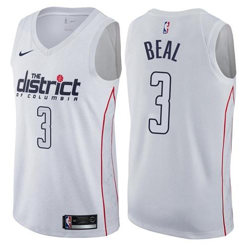 Nike Washington Wizards #3 Bradley Beal White NBA Swingman City Edition Jersey