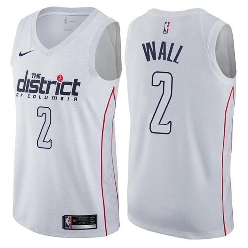 Nike Washington Wizards #2 John Wall White NBA Swingman City Edition Jersey