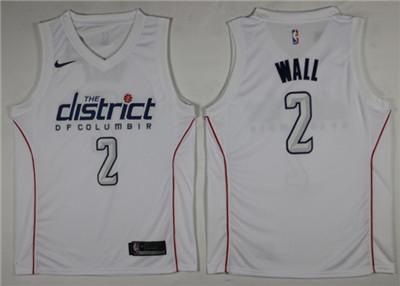Nike Wizards #2 John Wall White City Edition Swingman Jersey