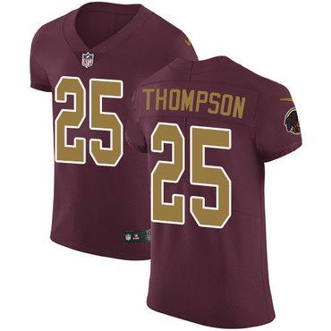Nike Washington Redskins #25 Chris Thompson Burgundy Red Alternate Men's Stitched NFL Vapor Untouchable Elite Jersey