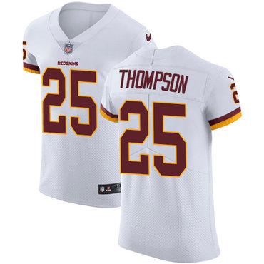 Nike Washington Redskins #25 Chris Thompson White Men's Stitched NFL Vapor Untouchable Elite Jersey