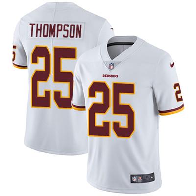 Youth Nike Washington Redskins #25 Chris Thompson White Stitched NFL Vapor Untouchable Limited Jersey