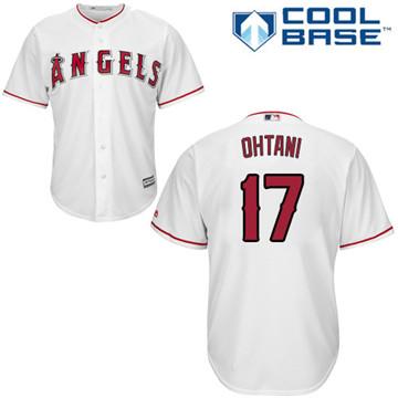 LA Angels of Anaheim #17 Shohei Ohtani White New Cool Base Stitched MLB Jersey