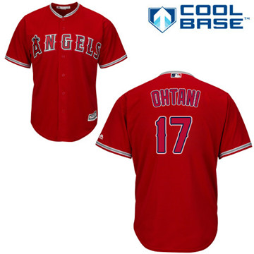 LA Angels of Anaheim #17 Shohei Ohtani Red New Cool Base Stitched MLB Jersey