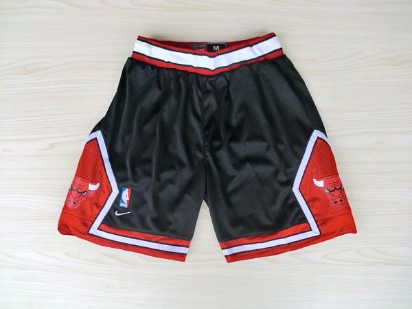 Chicago Bulls Black Nike Mesh NBA Shorts