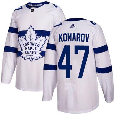 Adidas Toronto Maple Leafs #47 Leo Komarov White Authentic 2018 Stadium Series Stitched NHL Jersey