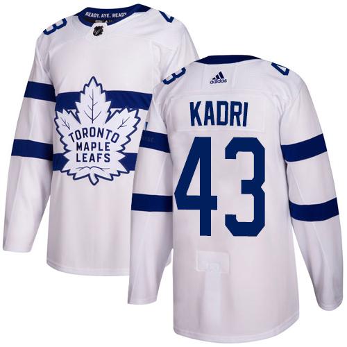 Adidas Toronto Maple Leafs #43 Nazem Kadri White Authentic 2018 Stadium Series Stitched NHL Jersey