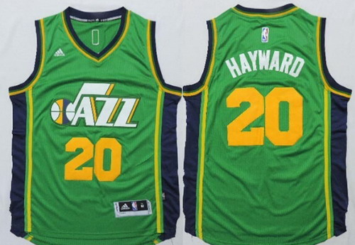 Utah Jazz #20 Gordon Hayward Revolution 30 Swingman 2014 New Green Swingman Jersey