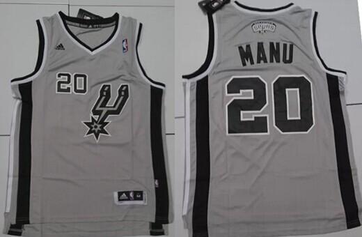 San Antonio Spurs #20 Manu Nickname Gray Swingman Jersey