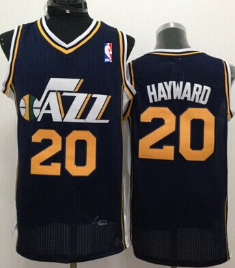 Utah Jazz #20 Gordon Hayward Navy Blue Swingman Jersey