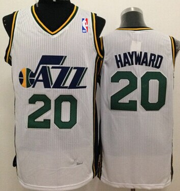 Utah Jazz #20 Gordon Hayward White Swingman Jersey