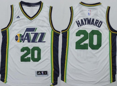 Utah Jazz #20 Gordon Hayward Revolution 30 Swingman 2014 New White Swingman Jersey