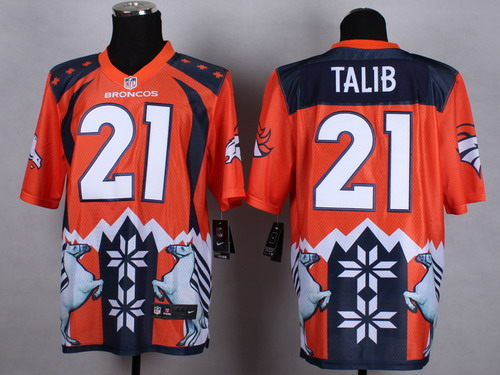 Nike Denver Broncos #21 Aqib Talib 2015 Noble Fashion Elite Jersey