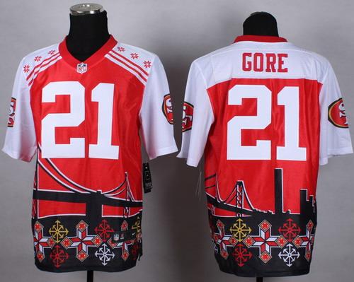 Nike San Francisco 49ers #21 Frank Gore 2015 Noble Fashion Elite Jersey