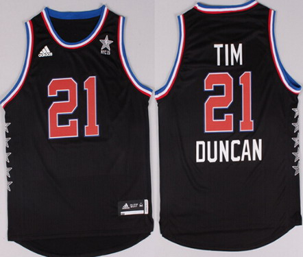 2015 NBA Western All-Stars #21 Tim Duncan Revolution 30 Swingman Black Jersey