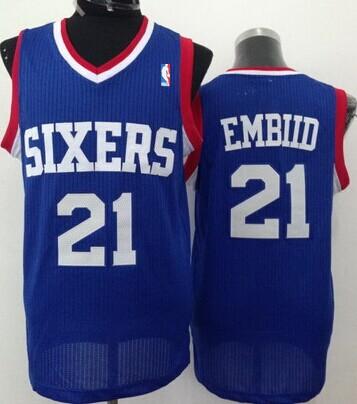 Philadelphia 76ers #21 Joel Embiid Blue Swingman Jersey