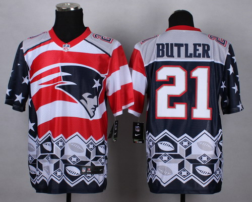 Nike New England Patriots #21 Malcolm Butler 2015 Noble Fashion Elite Jersey
