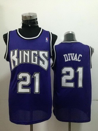 Sacramento Kings #21 Vlade Divac Purple Swingman Jersey