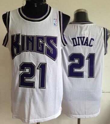Sacramento Kings #21 Vlade Divac White Swingman Jersey