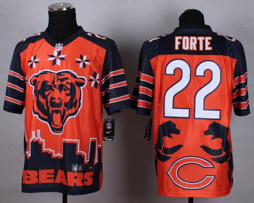 Nike Chicago Bears #22 Matt Forte 2015 Noble Fashion Elite Jersey