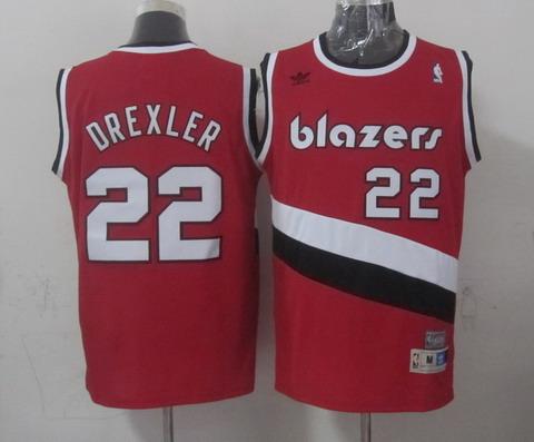 Portland Trail Blazers #22 Clyde Drexler Red Swingman Throwback Jersey