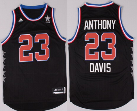 2015 NBA Western All-Stars #23 Anthony Davis Revolution 30 Swingman Black Jersey