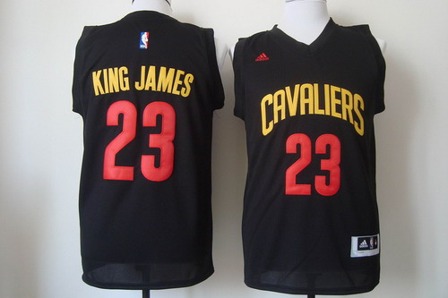 Cleveland Cavaliers #23 King James 2015 Black Fashion Jersey