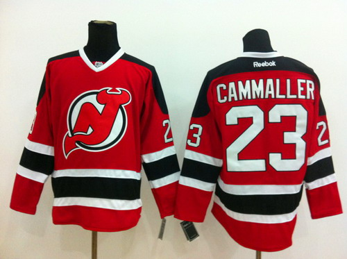 New Jersey Devils #23 Michael Cammalleri Red With Black Jersey