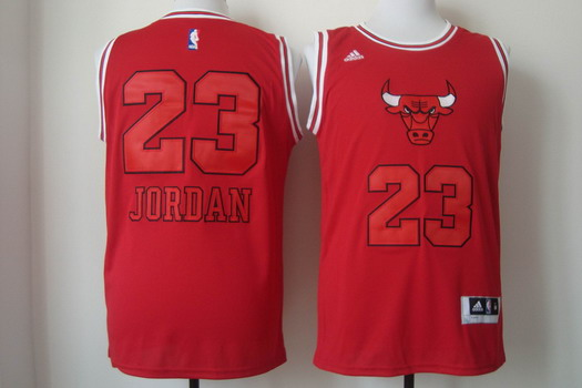 Chicago Bulls #23 Michael Jordan Red With Red Fashion Jersey
